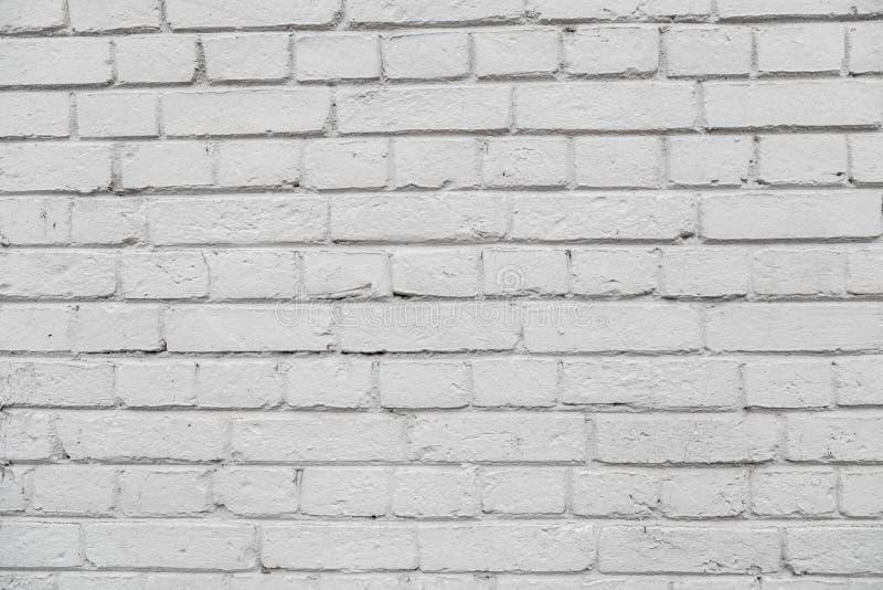 Wand von einem weißen Ziegelstein mit einem regelmäßigen Legen stockfoto