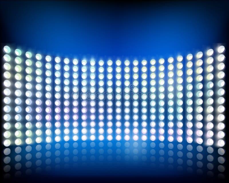 Wand von Lichtern. Vektorillustration. lizenzfreie abbildung