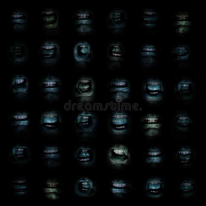 Wand von Mündern lizenzfreies stockfoto