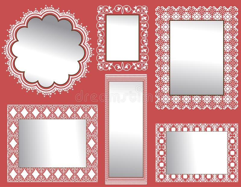 Wand von Spiegeln stock abbildung