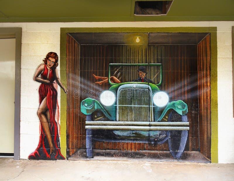 Wand-Wandgemälde, Seligman, Arizona USA stockbilder