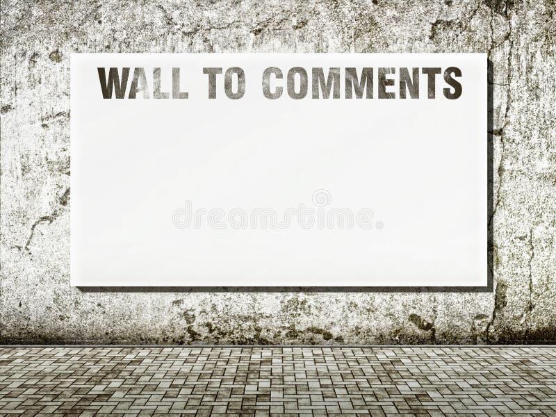 Wand zum Kommentarraum für Text lizenzfreie stockbilder