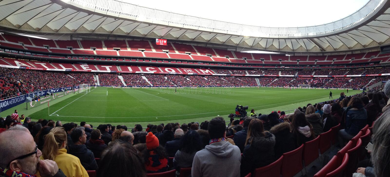 Wanda Stadium, Madrid, Spanien, Haus von Atletico Madrid stockfotos