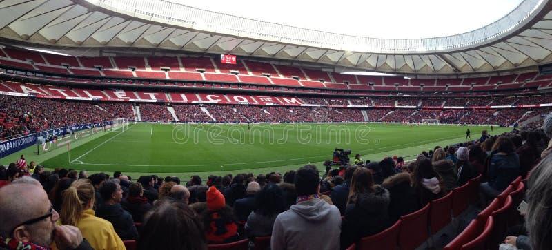 Wanda stadium, Madryt, Hiszpania, dom Atletico Madryt zdjęcia stock