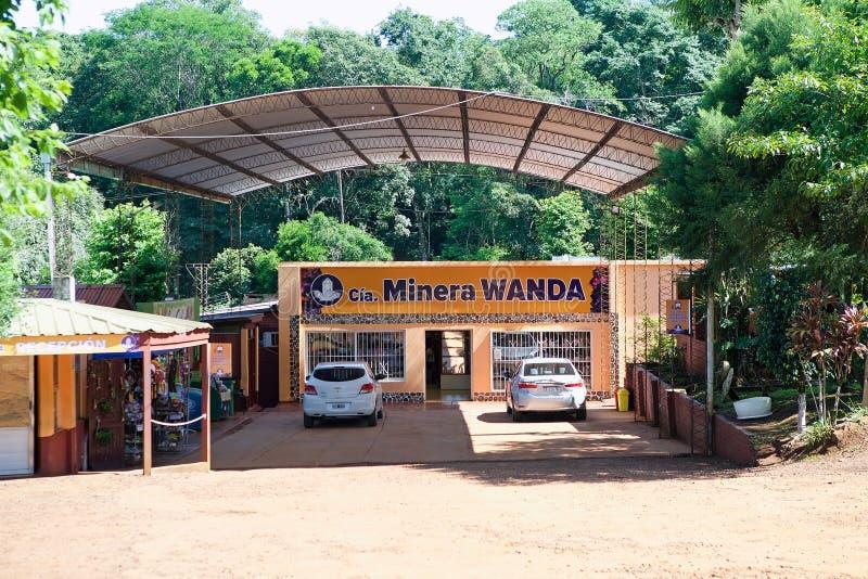 Wandamijnen in de Misiones-Provincie, Argentinië stock foto's