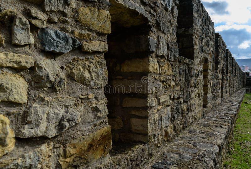 Wandbeschaffenheit von Torres Vedras-Schloss, Portugal lizenzfreie stockfotos