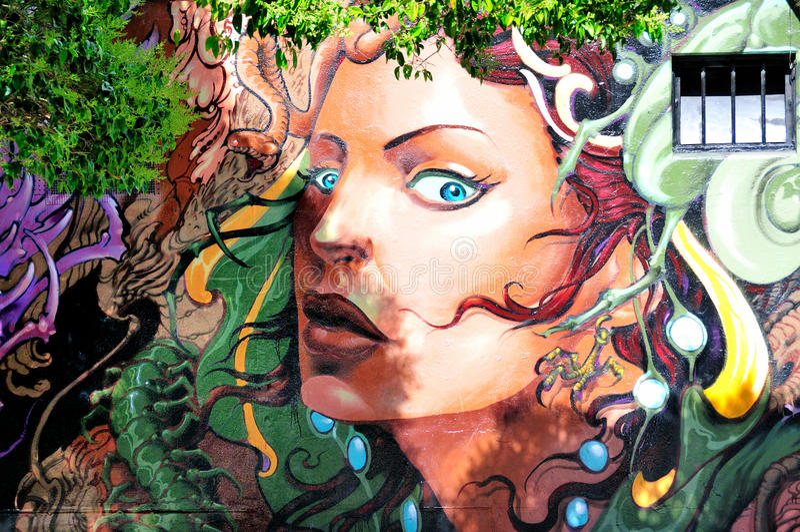 Wandbild in Haight Hasbury in San Francisco lizenzfreie stockbilder