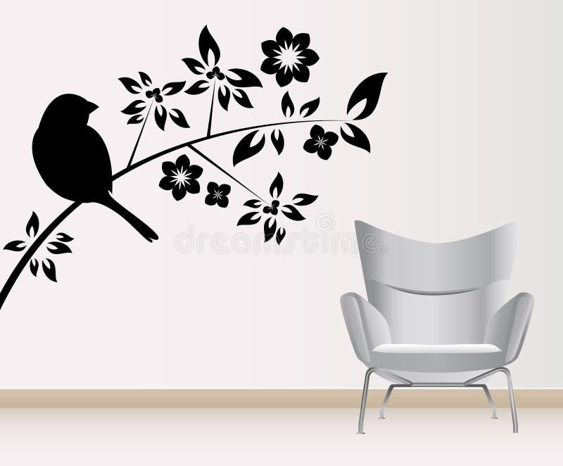 Wanddekoration lizenzfreie abbildung
