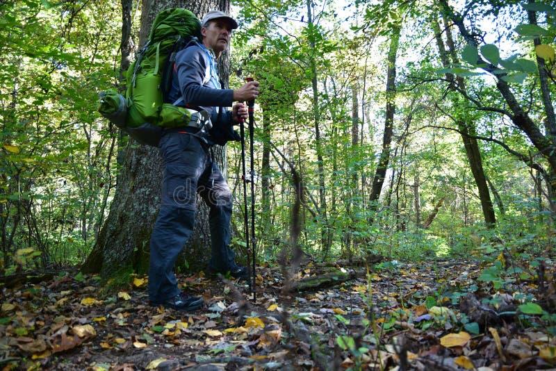 Wandelaar/Backpacker royalty-vrije stock fotografie
