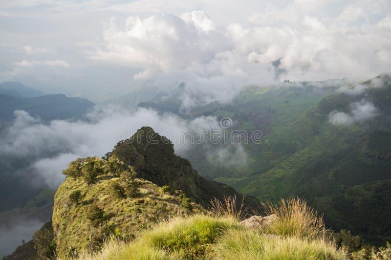 Wandelend in de Simien-Bergen, Ethiopië royalty-vrije stock afbeelding
