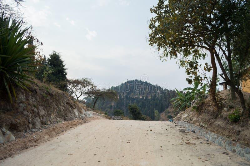 Wandelend rond Meer Kivu, Kibuye, Rwanda stock afbeelding