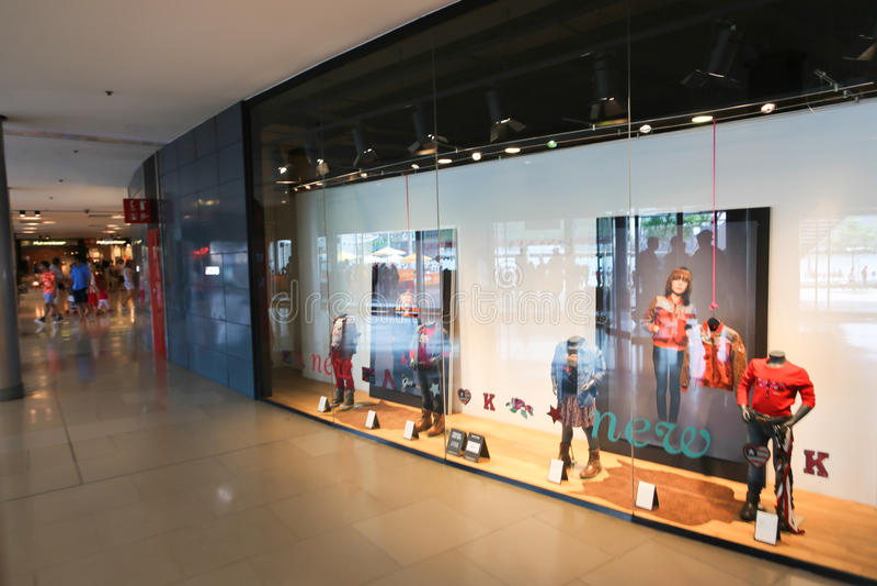 Wandelgalerij in Barcelona stock foto