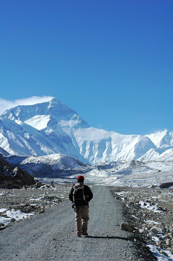 Wandeling aan Everest royalty-vrije stock afbeeldingen