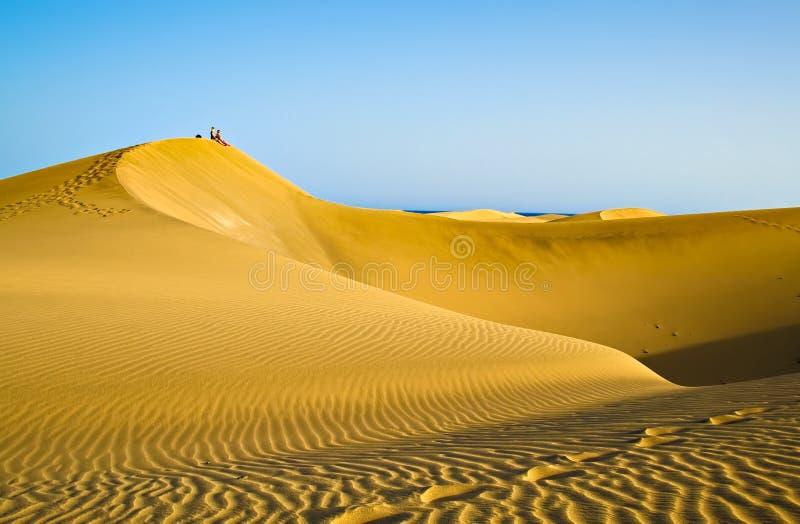 Wandeling in de woestijn stock afbeelding