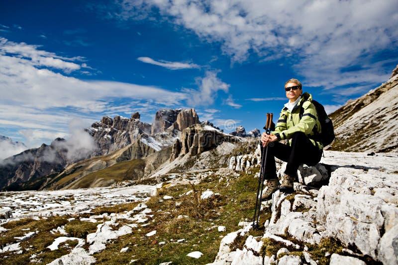 Wandeling in Dolomiet royalty-vrije stock afbeeldingen