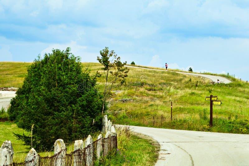 Wandeling op de heuvel! royalty-vrije stock fotografie