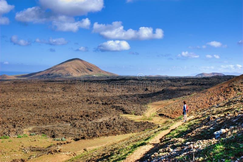Wandeling op Lanzarote royalty-vrije stock fotografie
