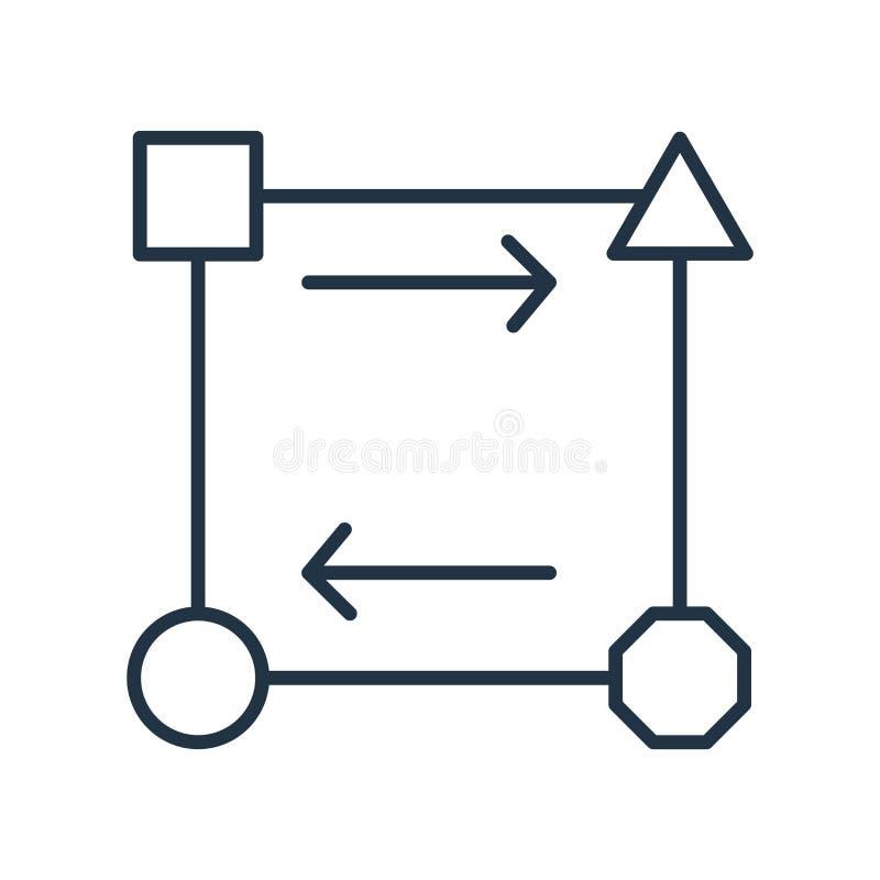 Wandeln Sie den Ikonenvektor, der auf weißem Hintergrund lokalisiert wird um, wandeln Sie Zeichen um stock abbildung