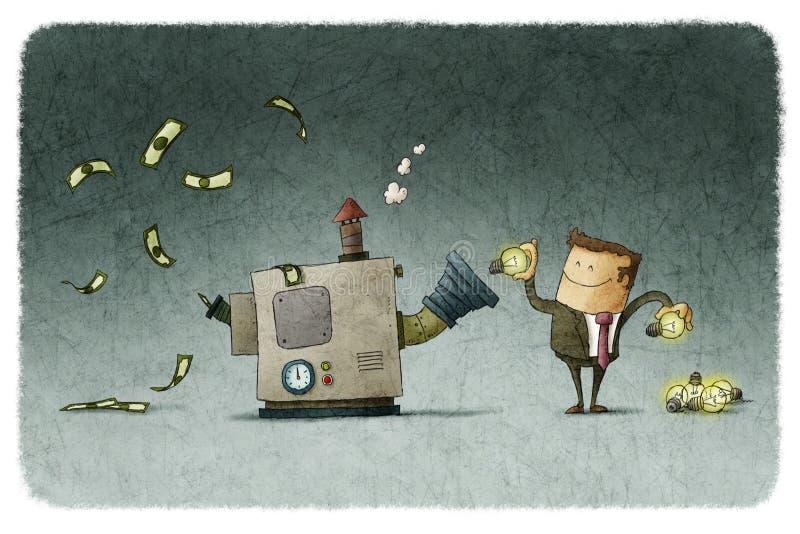 Wandeln Sie Ideen für Geld um lizenzfreie abbildung