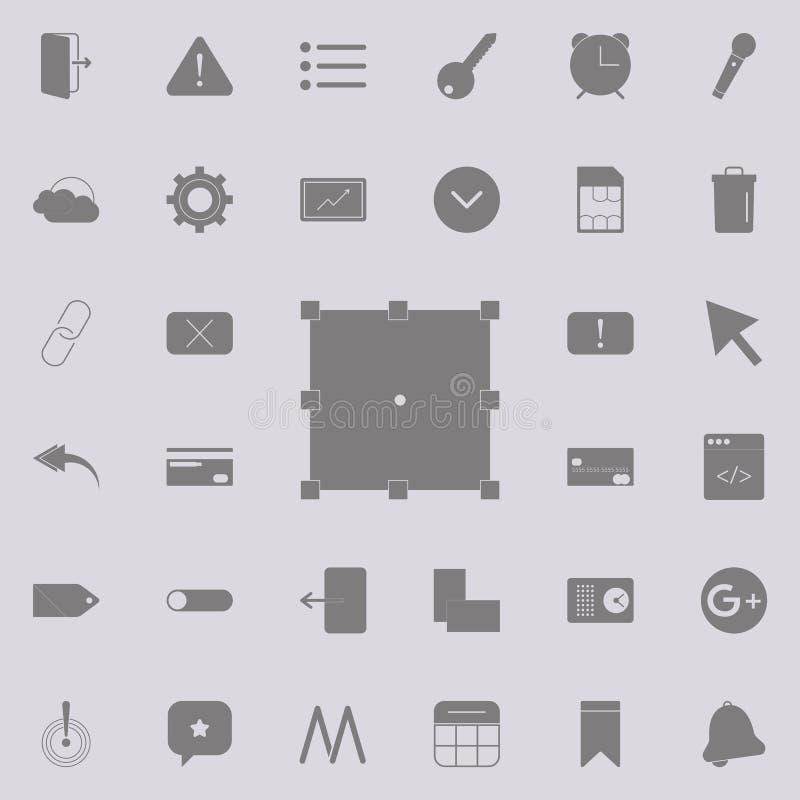 wandeln Sie Knopfikone um Ausführlicher Satz minimalistic Ikonen Erstklassiges Qualitätsgrafikdesignzeichen Eine der Sammlungsiko vektor abbildung
