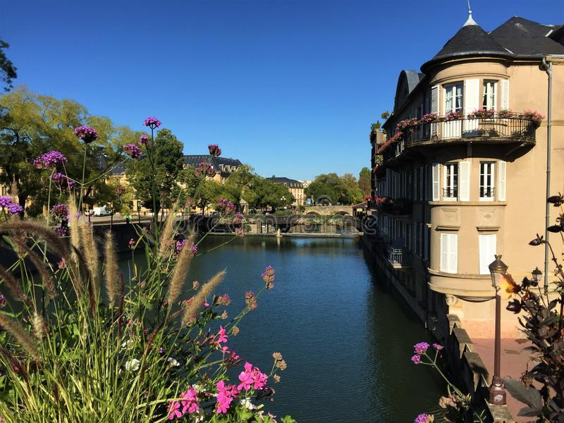 Charming streets of Metz France royalty free stock image