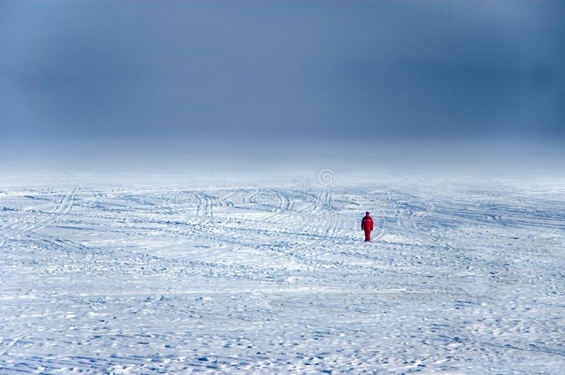 Wanderer on ice royalty free stock image