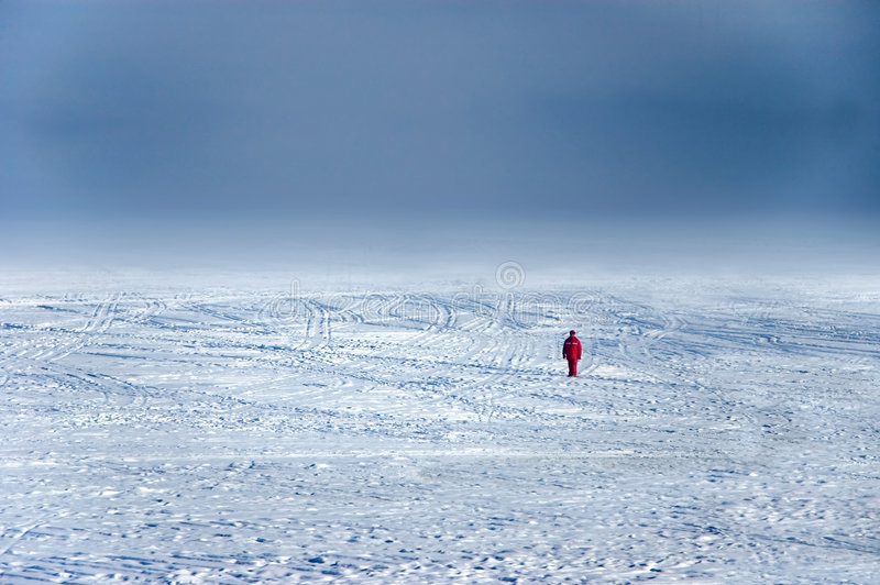Wanderer no gelo imagem de stock royalty free