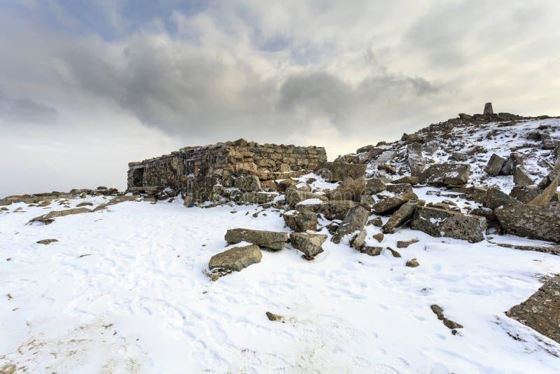 Wanderer schützen, Cadair Idris stockbild