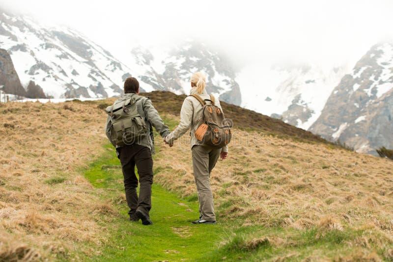 Wandererpaare stockfoto