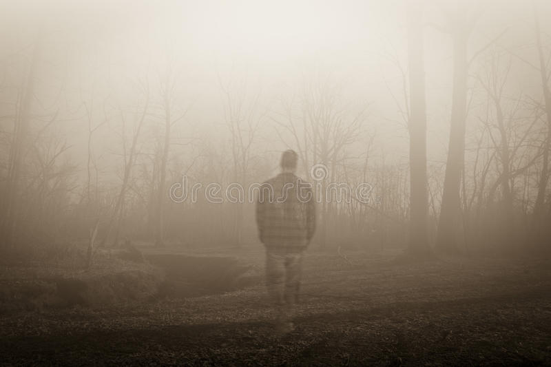 Wandering Ghost Along the Riverside royalty free stock photography