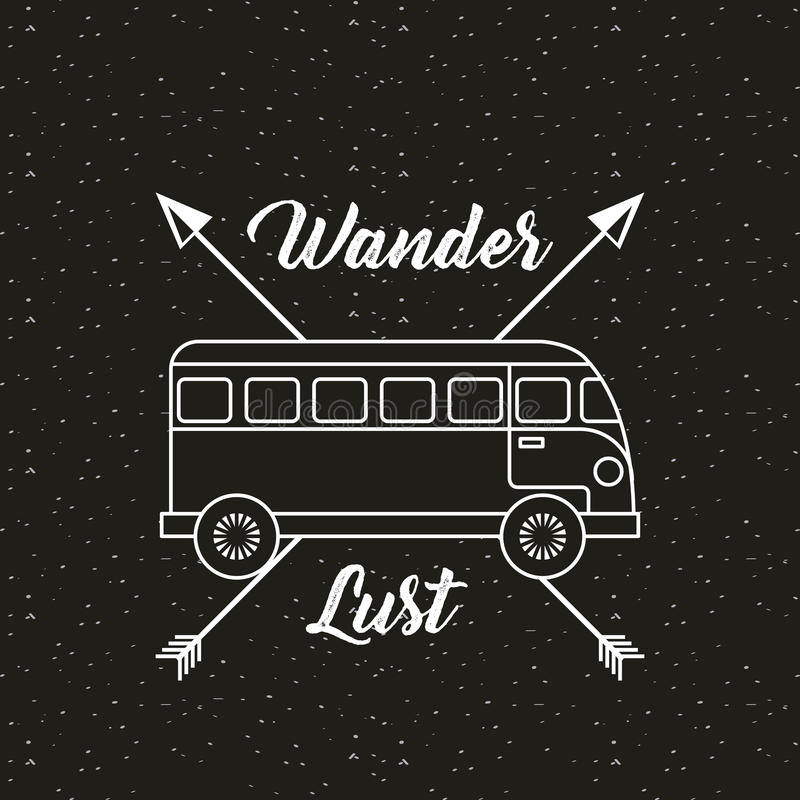 wanderlust σχέδιο πνευμάτων στοκ εικόνες