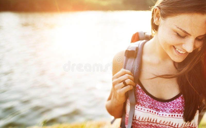 Wanderlust Pigeon Traveler Lifestyle Nature Trip Concept stock images
