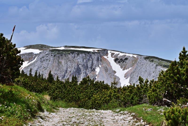 Wandern auf dem Rax in Österreich lizenzfreie stockbilder
