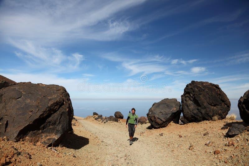 Wandern auf Teide Tenerife lizenzfreie stockfotos