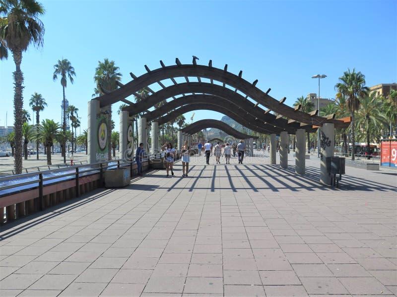 Wandern in Barcelona stockfoto