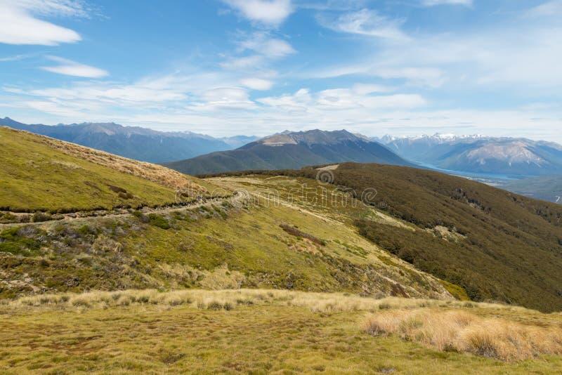 Wandern der Bahn in Nelson Lakes National Park stockbilder