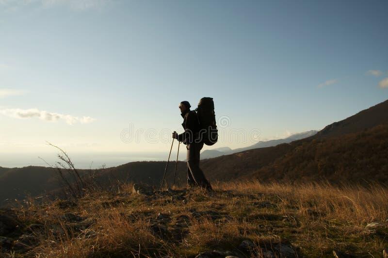 Wandern in der Krim stockfoto