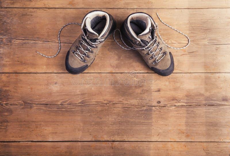 Wandern der Schuhe lizenzfreie stockfotos