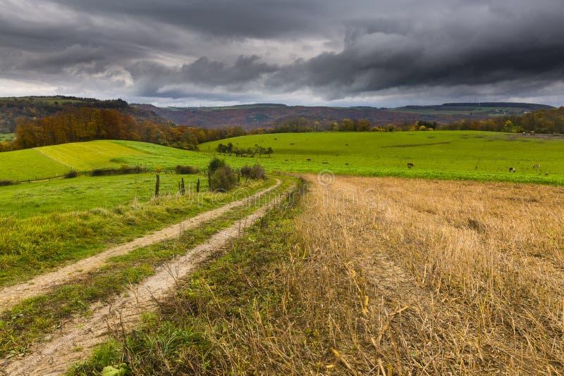 Wandern der Spur GR5 in der Benelux lizenzfreie stockbilder