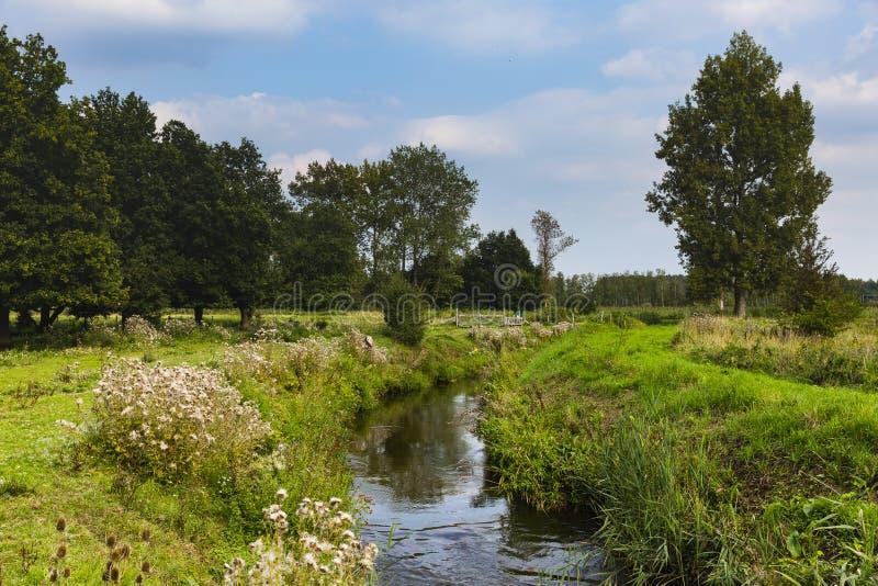 Wandern der Spur GR5 in der Benelux stockfotografie
