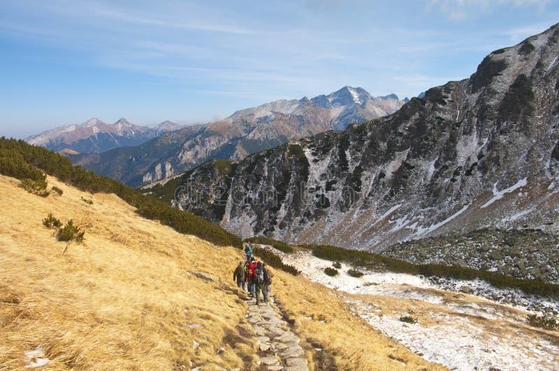 Wandern im polnischen Tatra lizenzfreies stockbild
