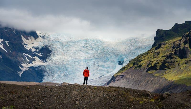 Wandern in Island lizenzfreie stockfotografie