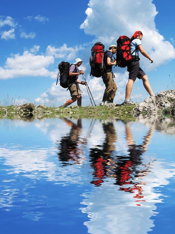 Wandern in Krim stockbild