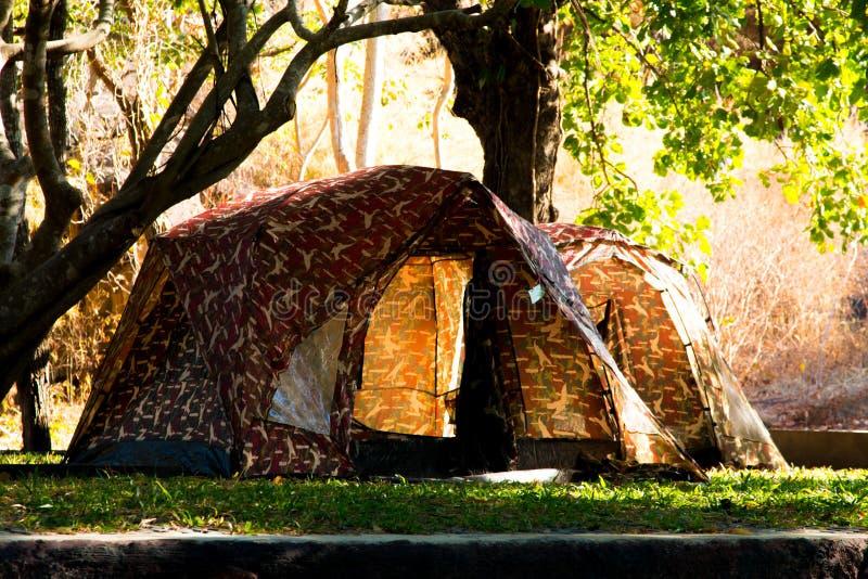 Wandern und Campingzelt lizenzfreie stockfotos