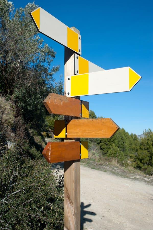 Wandern von Signpost lizenzfreies stockfoto