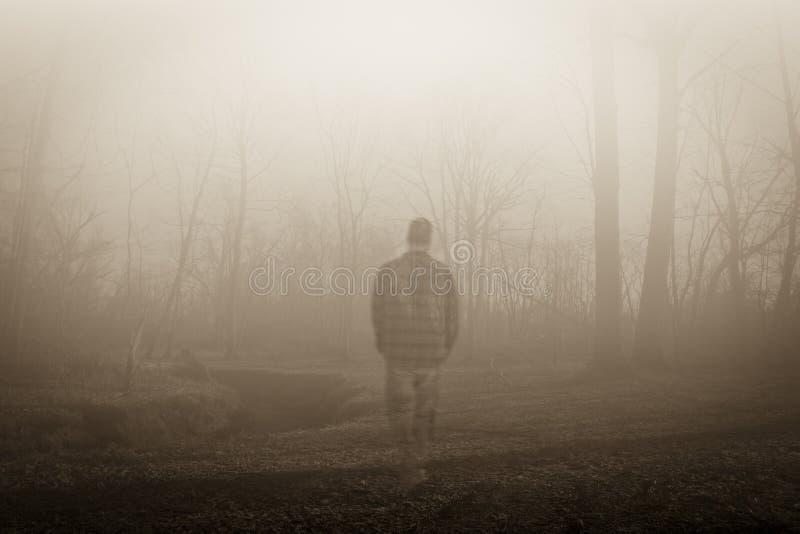 Wandernder Geist entlang dem Flussufer lizenzfreie stockfotografie