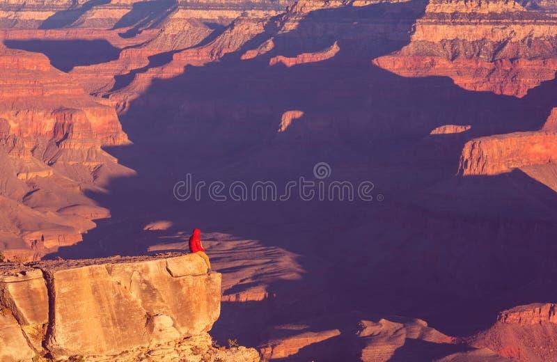 Wanderung im Grand Canyon stockfoto