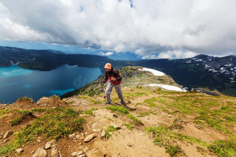 Download Wanderung in Kanada stockbild. Bild von gipfel, berg - 90227275