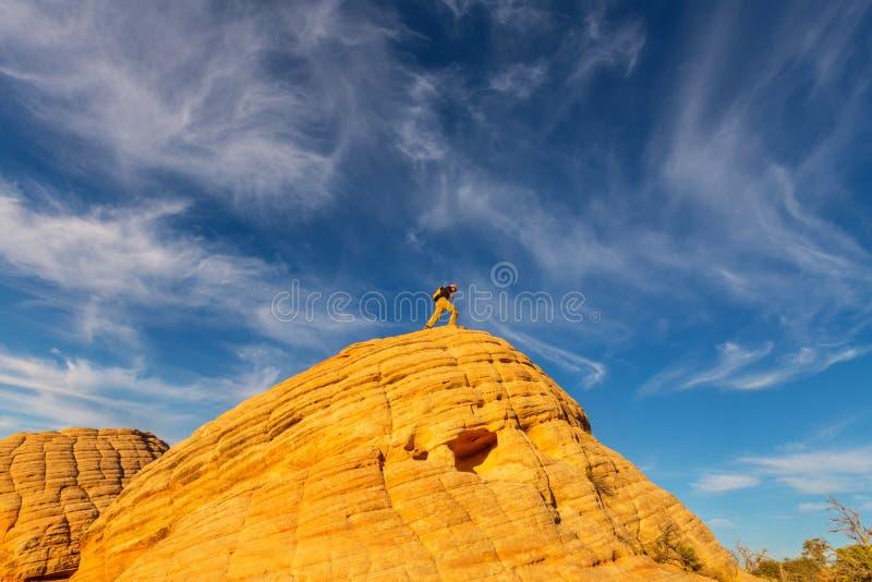 Download Wanderung in Utah stockfoto. Bild von amerika, männer - 90227232