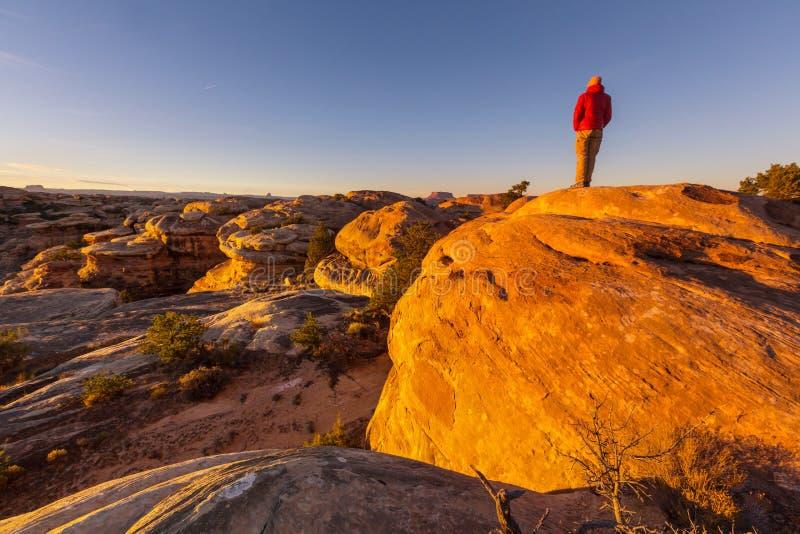Wanderung in Utah stockfoto